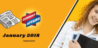 current affairs January 2018