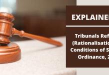 Tribunals Reforms Ordinance 2021
