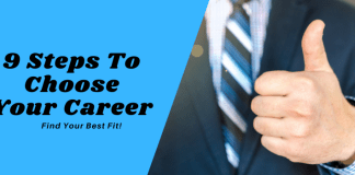 9 Steps To Choose Your Career