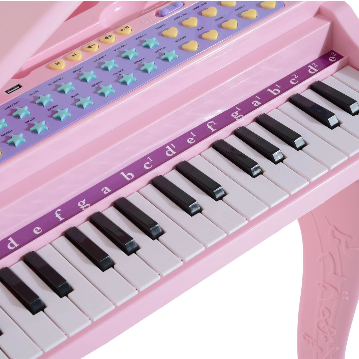 37/32 Key Kids Electronic Keyboard Mini Grand Piano Stool ...
