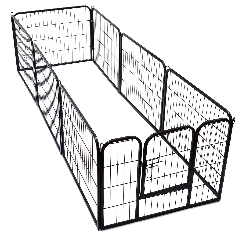 4 Sizes Pet Playpen Dog Rabbit Puppy Cage Folding Run