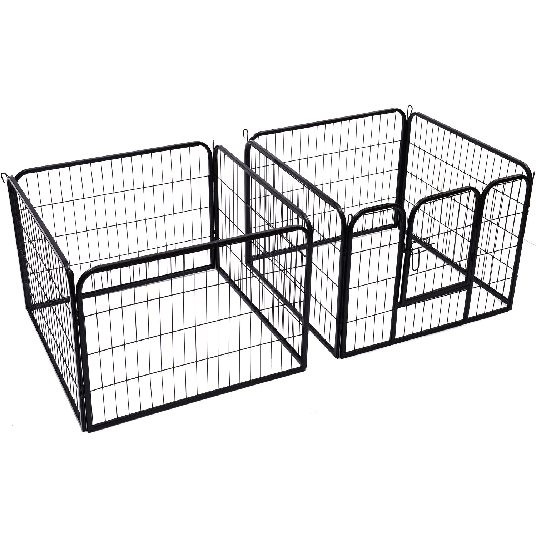 4 Sizes Pet Playpen Dog Rabbit Puppy Cage Folding Run Fence Garden Metal Hutch