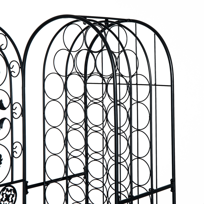 New Freestanding Wine Metal Rack Home Bar Display With 45