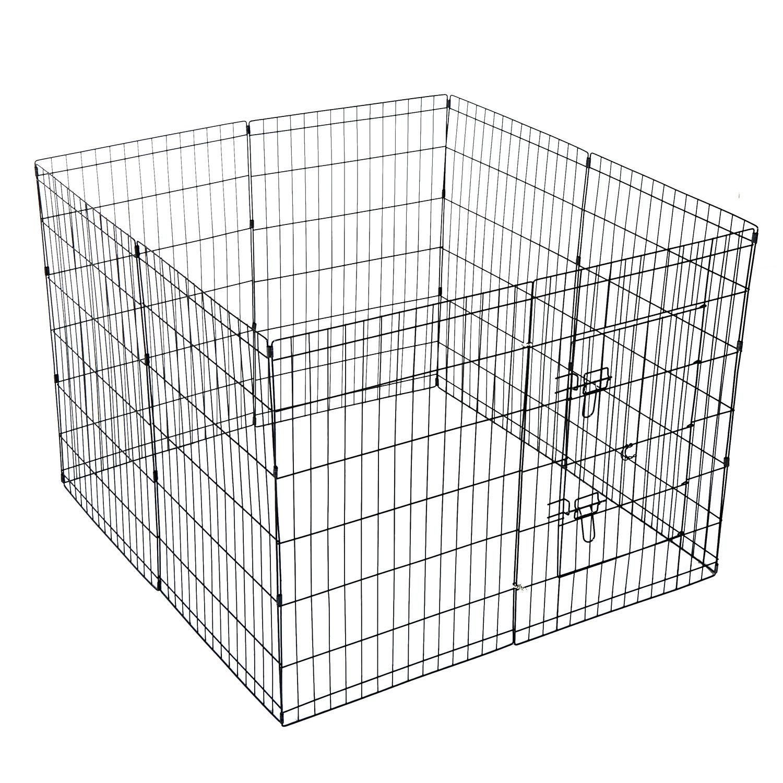 Pet Cage Metal Playpen 8 Panel Dog Cat Rabbit Play Pen