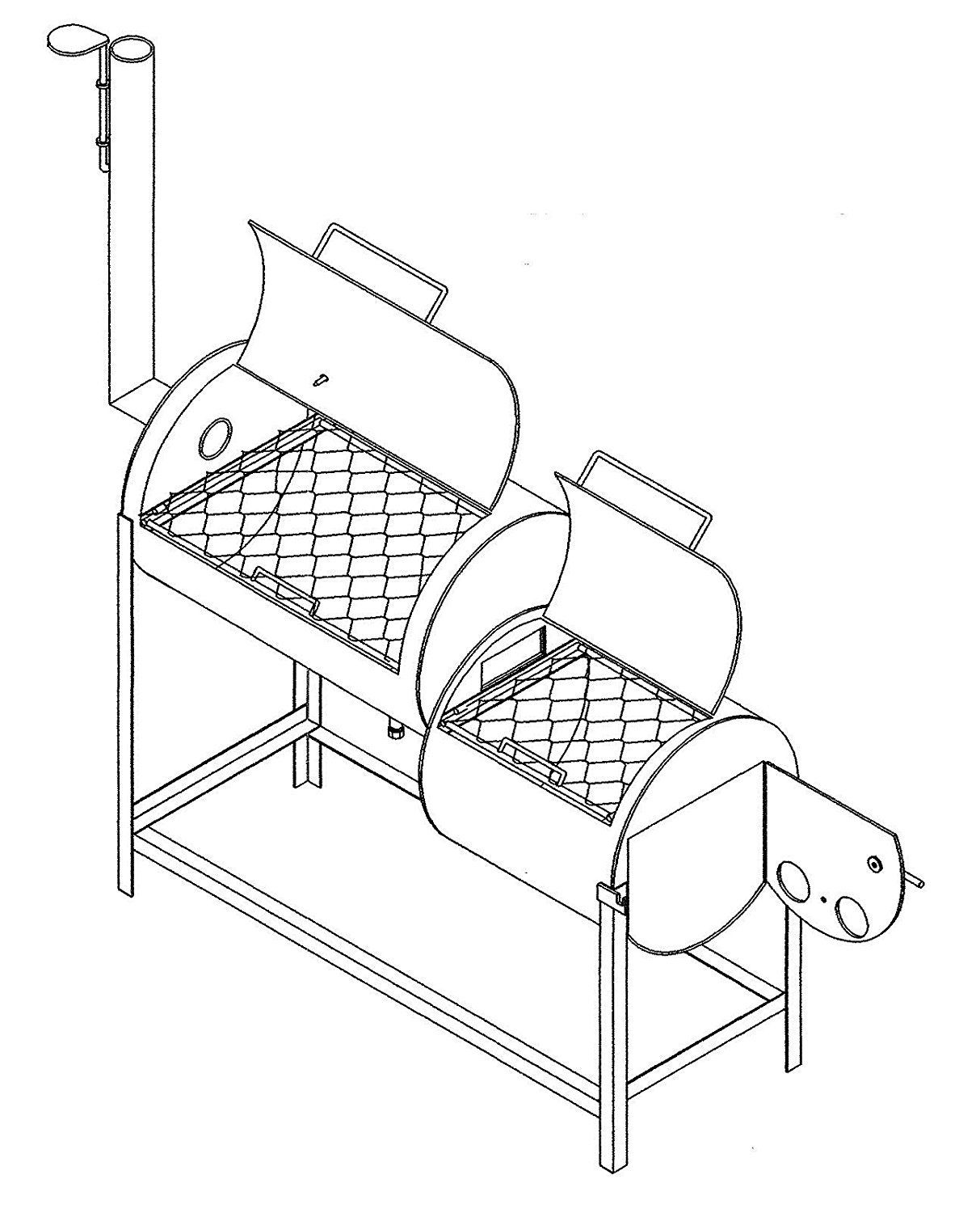 32 X 20 Bbq Smoker Pit Amp Grill Plans Blueprints