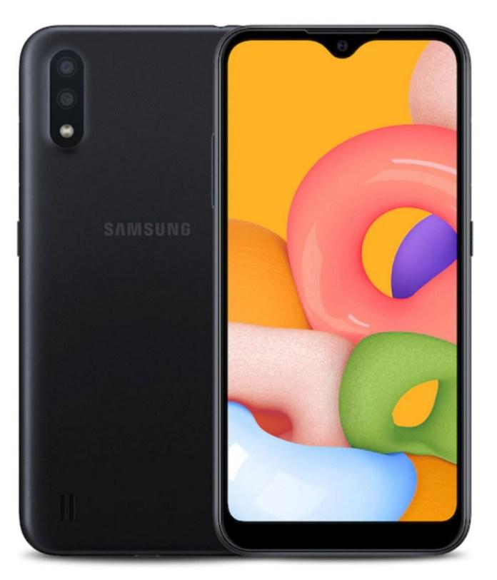 Samsung Galaxy A01 Grade B Cricket Black 16 Gb 5 7 In Screen Ebay