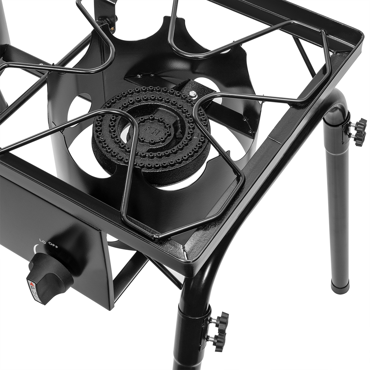 Bbq Tools Accessories 2 Burner Propane Stove Gas Outdoor Portable Camping Bbq High Pressure Regulator Home Garden