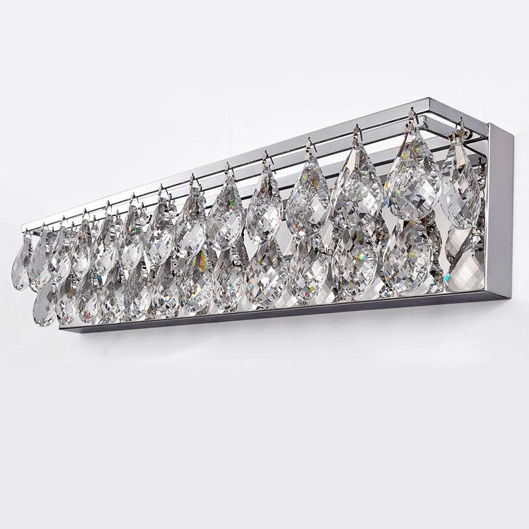 Luminous Crystal Bedroom Lighting Wall Sconce Chrome ... on Crystal Bathroom Sconces id=66504
