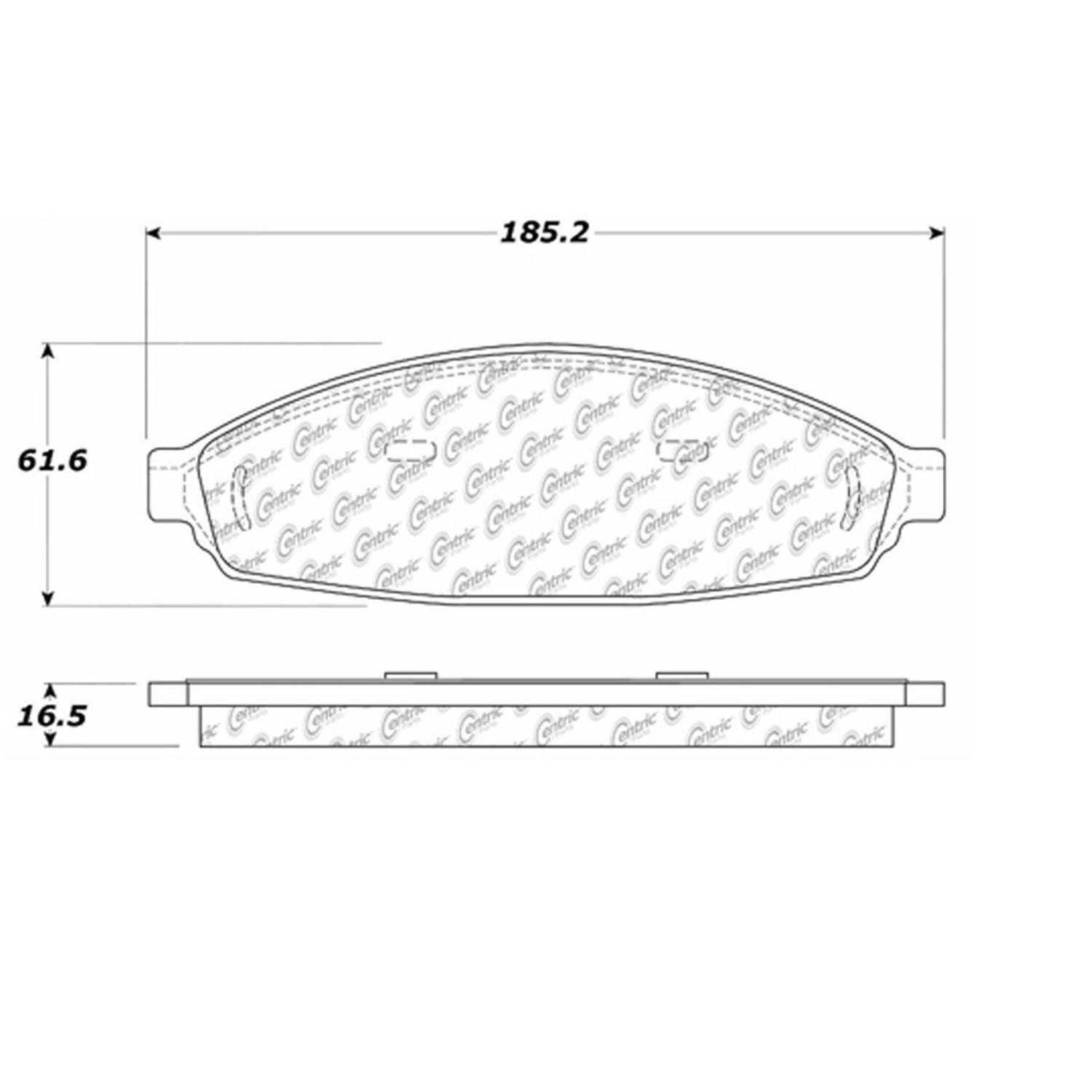 Centric Parts Brake Pads Front Rear For
