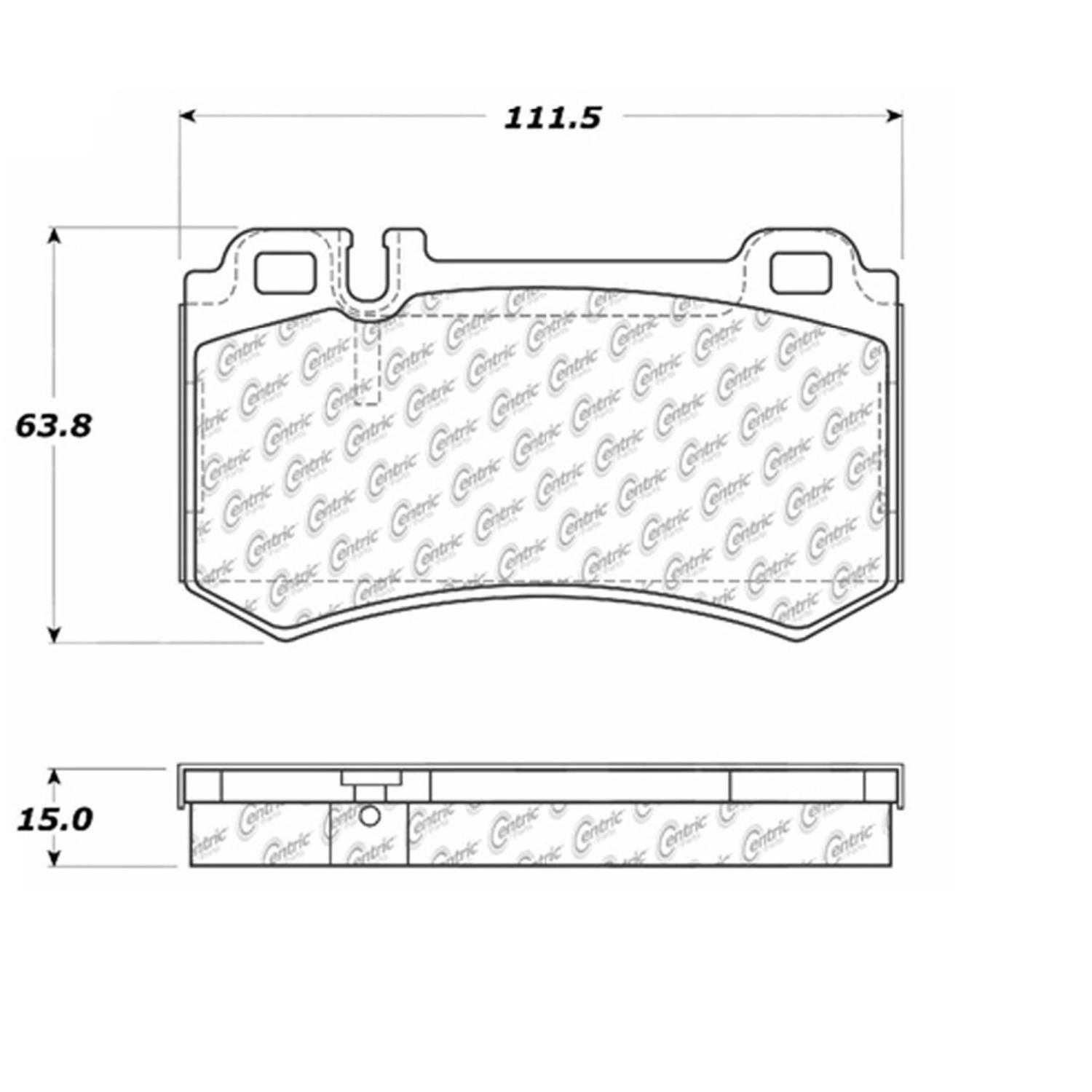 Centric Parts Brake Pads Front Rear For Mercedes