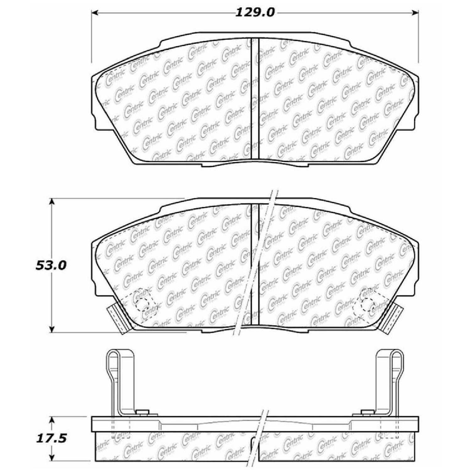 Centric Parts Brake Pads Front Rear For 92 93 Acura