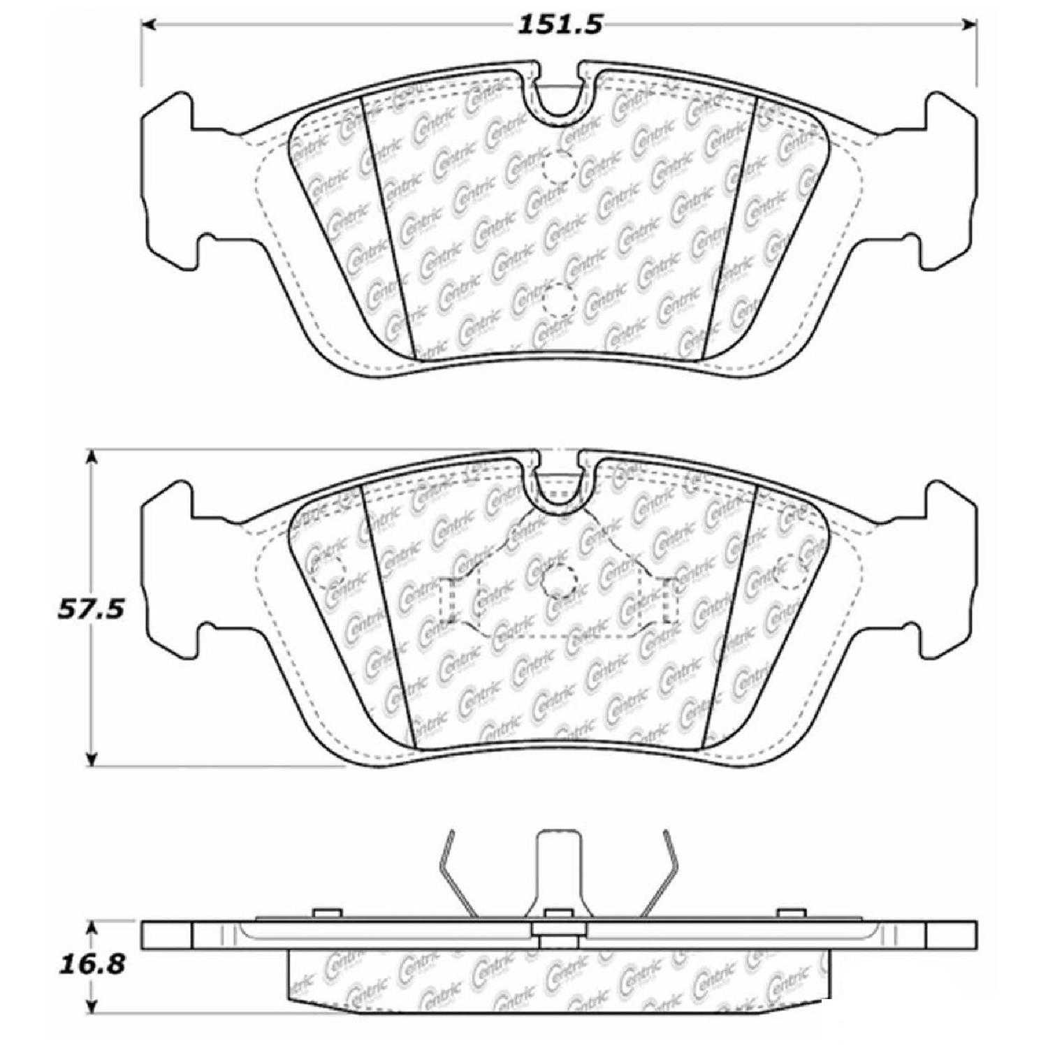 Centric Parts Brake Pads Front Rear For 92 95