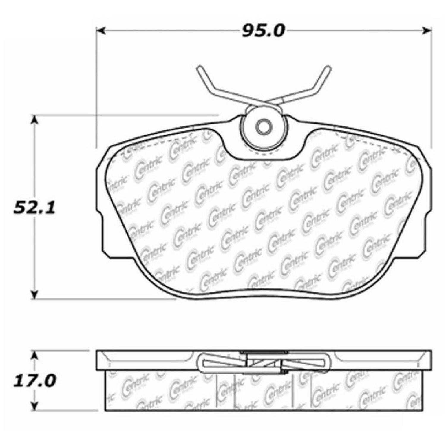 Centric Parts Brake Pads Front Rear For 97 Land Rover