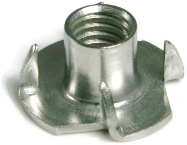 Stainless Steel T Nut UNC 3 Prong 8 32 x 1 4 Qty 25 | eBay