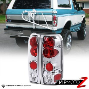 9296 Ford F150 F250 F350 Bronco Chrome Rear Tail Lights