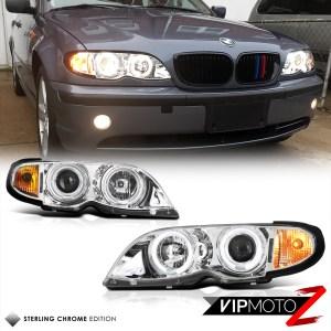 0205 BMW E46 4DR Sedan New Halo Angel Eyes Projector