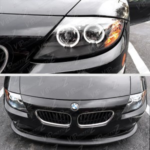 200308 BMW Z4 Xenon Model Halo Projector Black Headlight Angel Eyes LeftRight | eBay
