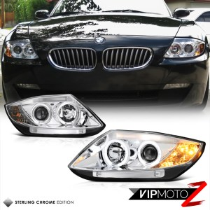 New Pair LeftRight Euro Clear Crystal Halo Projector Headlight 20032008 BMW Z4 | eBay
