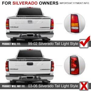 9902 Chevy Silverado Truck 150025003500 LED REDSMOKE