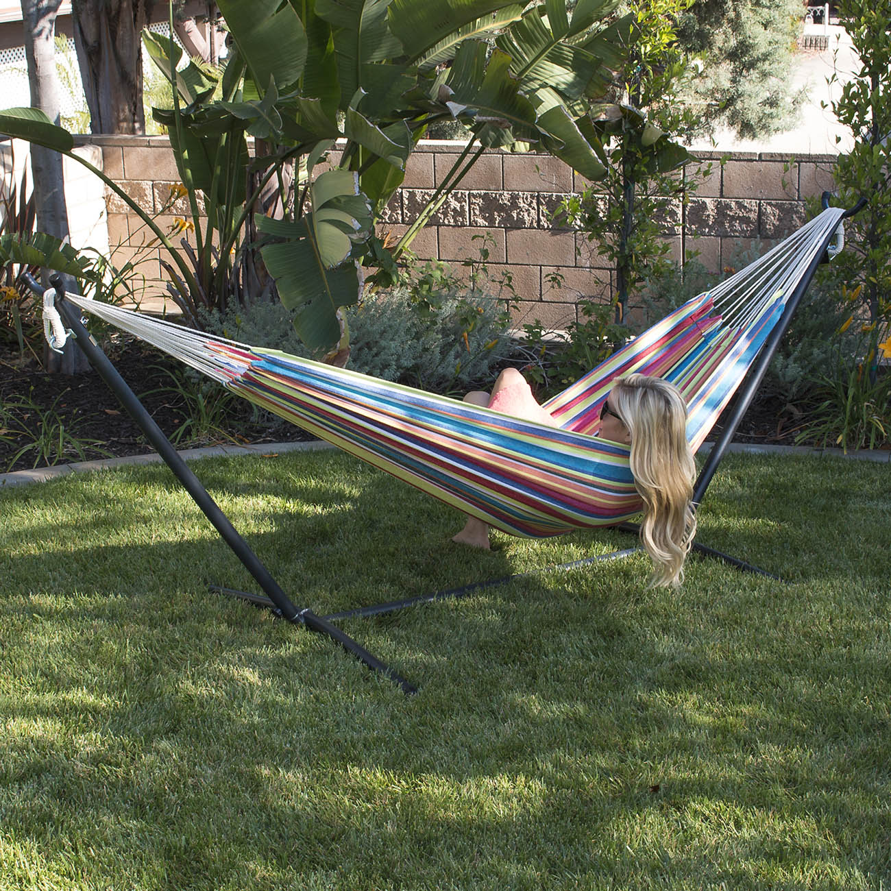 New 10ft Double Hammock Heavy Duty Space Steel With Stand