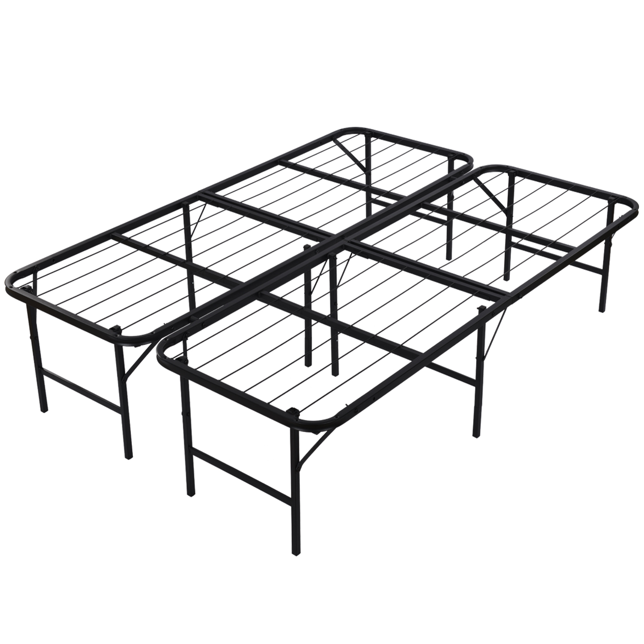 Platform Bed Frame Queen Mattress Foundation Foldable