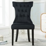 Details About Set Of 2 Elegant Tufted Design Fabric Upholstered Modern Dining Chairs Armless
