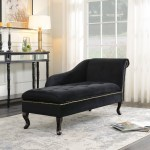 Small Space Chaise Lounge For Living Room Leather Match 57 8 Inches Beige For Sale Online Ebay
