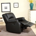 Details About New Recliner And Rocking Swivel Chair Leather Seat Living Room Black And Brown