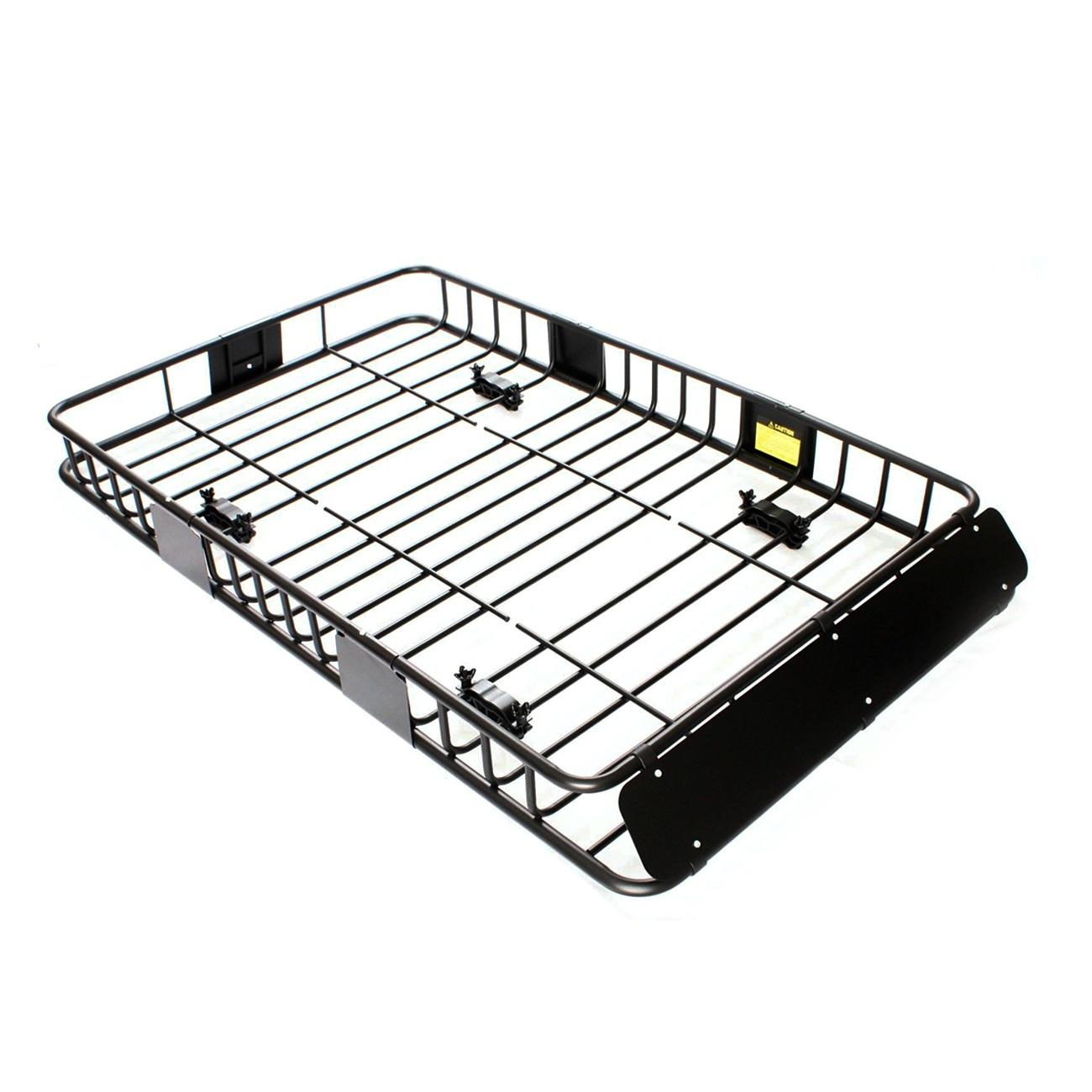 64 Black Universal Roof Rack W Extension Cargo Top