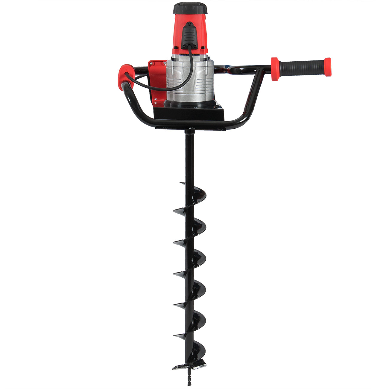 W Electric 1 6hp Post Hole Digger Earth Soil W 4 Inch Auger Bit 110v Kit