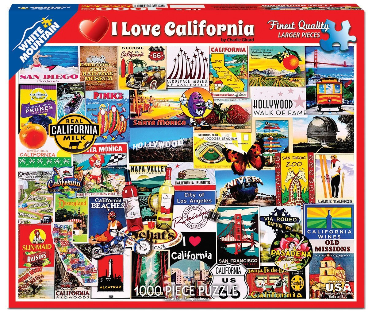 White Mountain Puzzles I Love California Collage