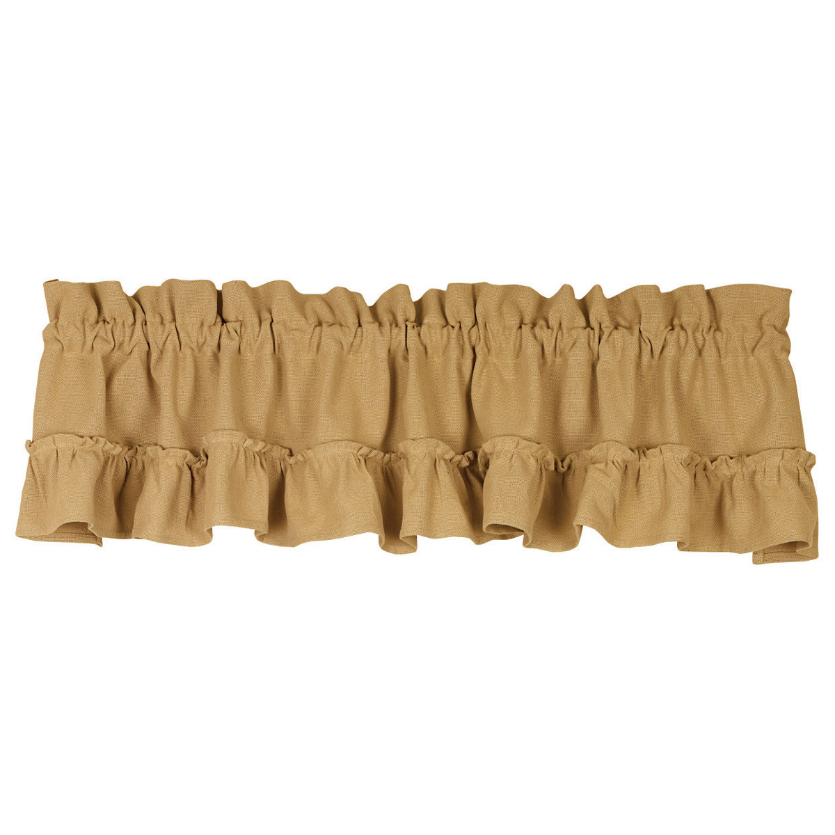 Ruffled Cotton Burlap French Country Valance
