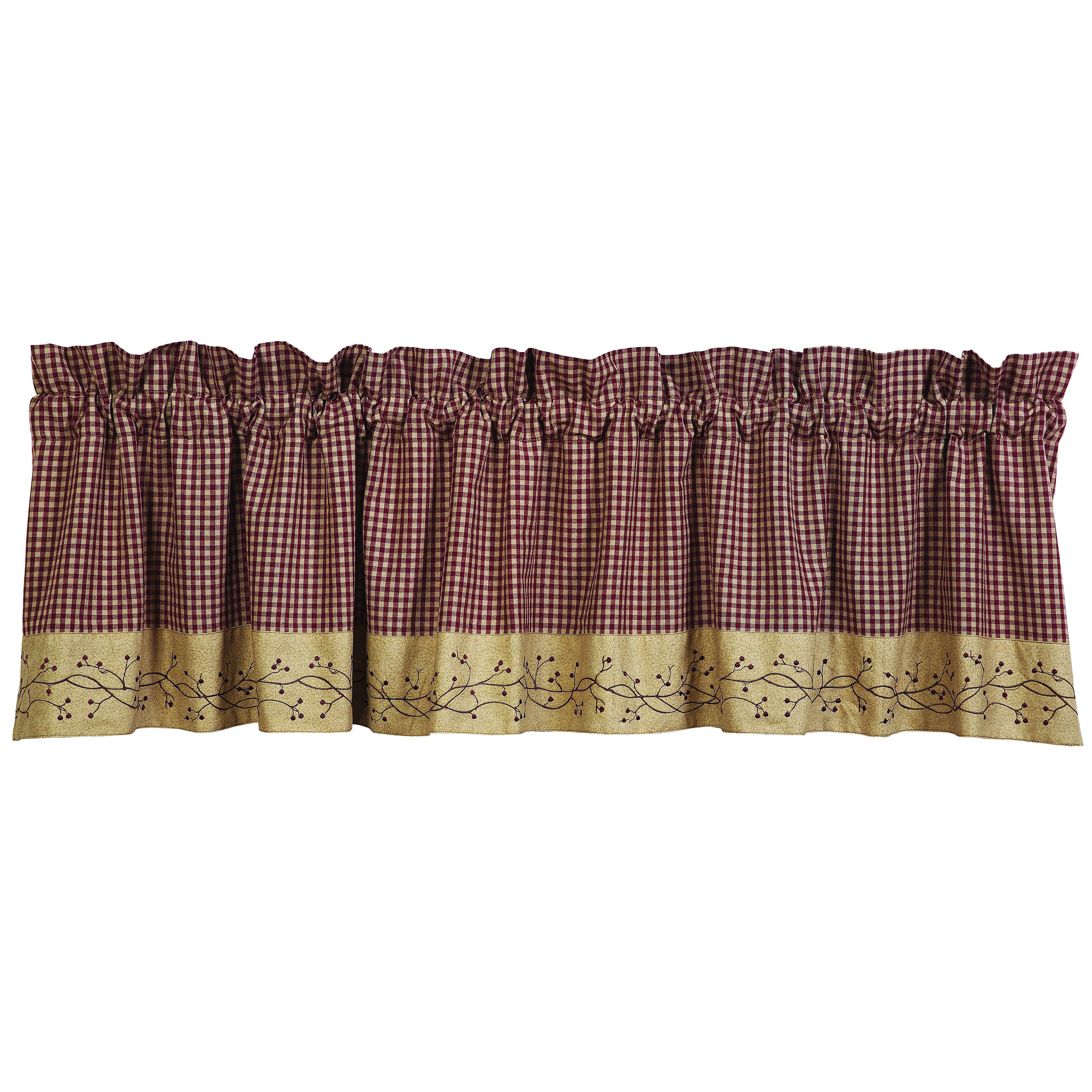 Checker Berry Primitive Valance