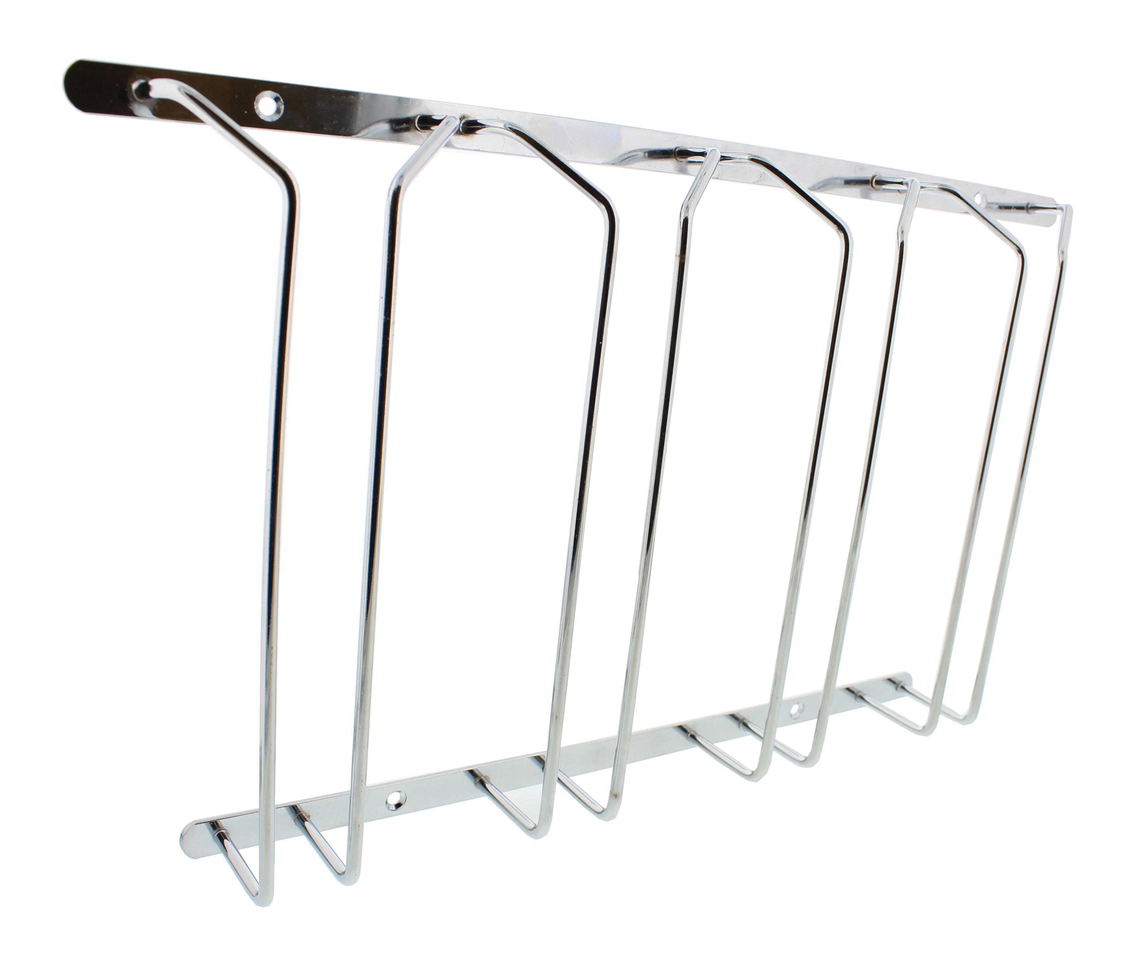 Under Cabinet Wine Glass Stemware Holder Rack With