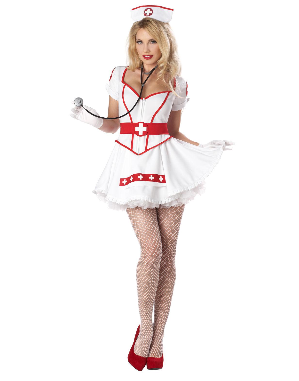 Sexy Naughty Nurse Heart Breaker Dress Adult Costume Women
