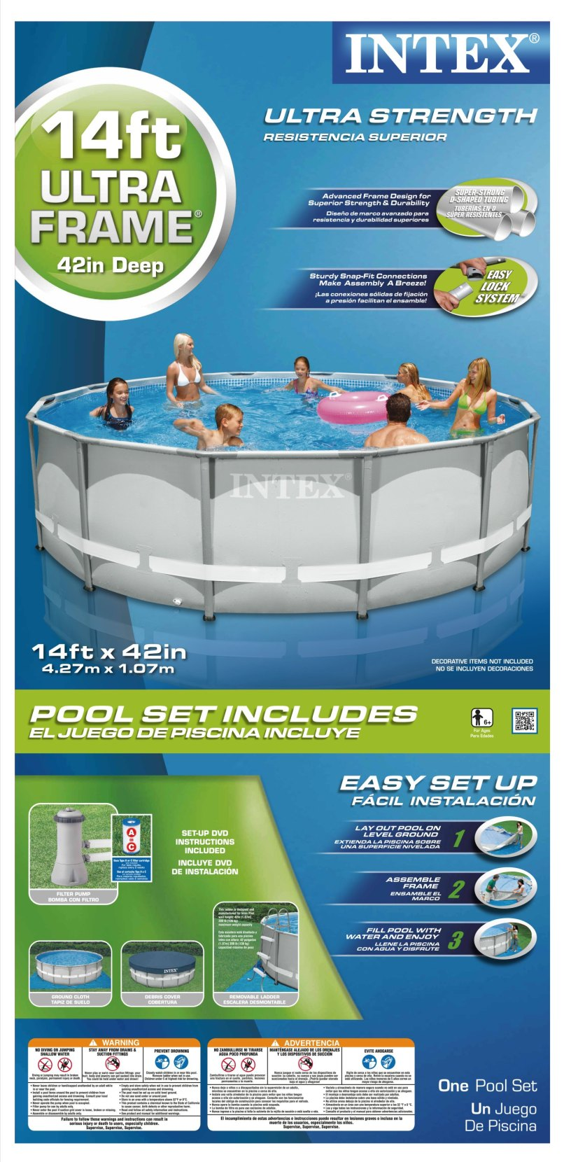 Intex 14ft X 42in Ultra Frame Pool Set With Filter Pump | Allframes5.org