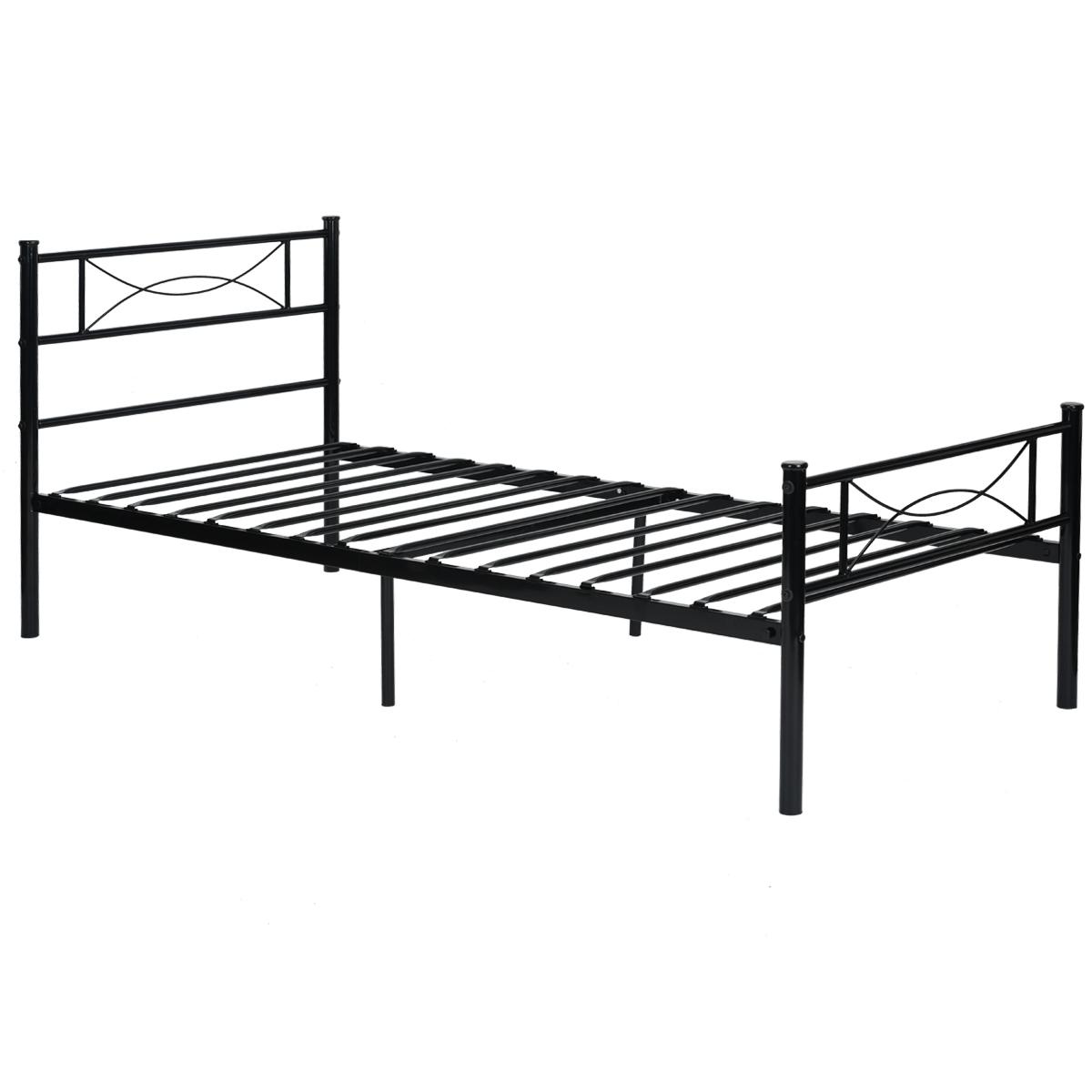 Bedroom Metal Bed Frame Platform Mattress Foundation
