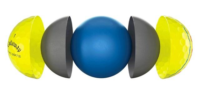Callaway ERC Soft 21 Yellow Golf Balls Breakdown