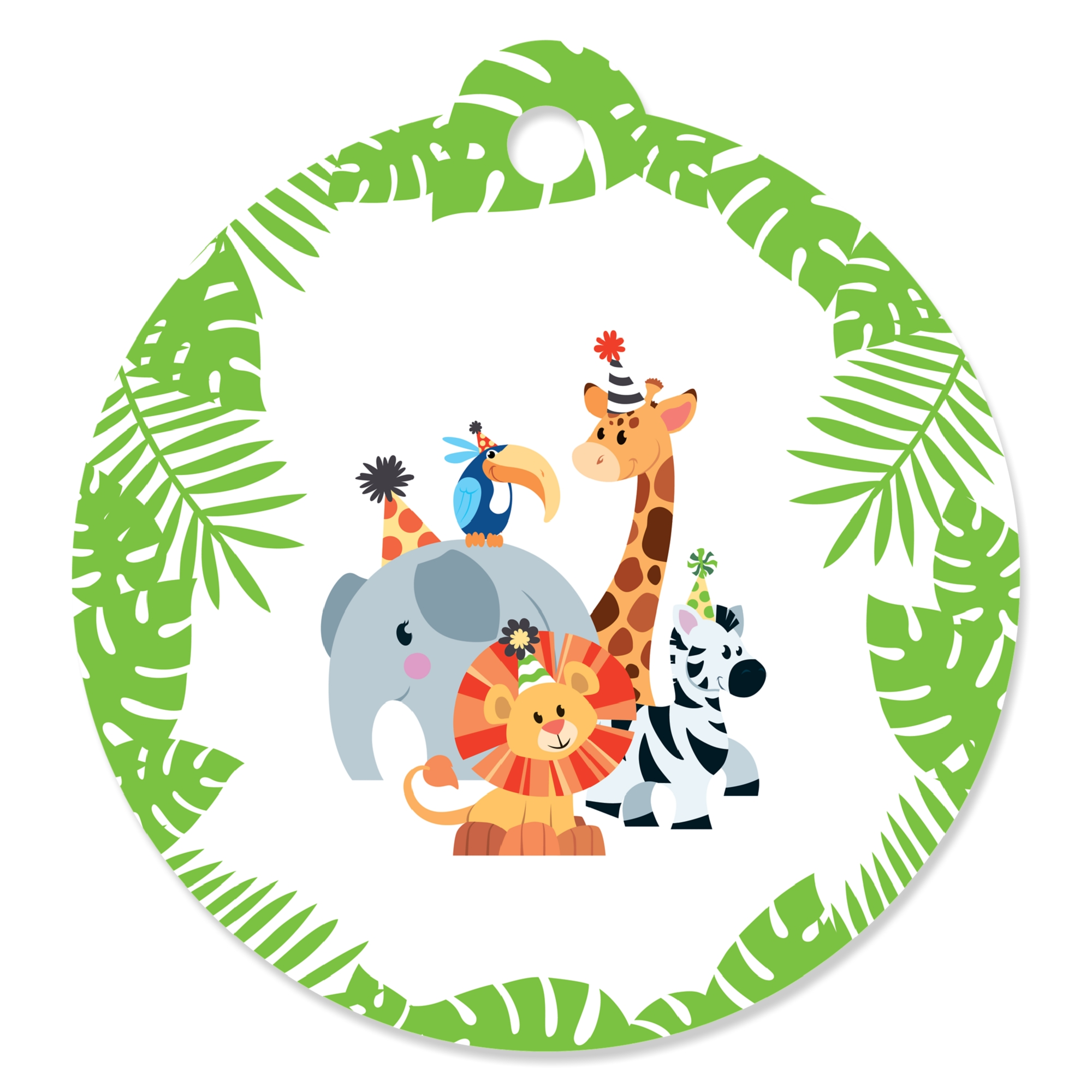 Safari Zoo Animal Birthday Party Or Baby Shower Favor T