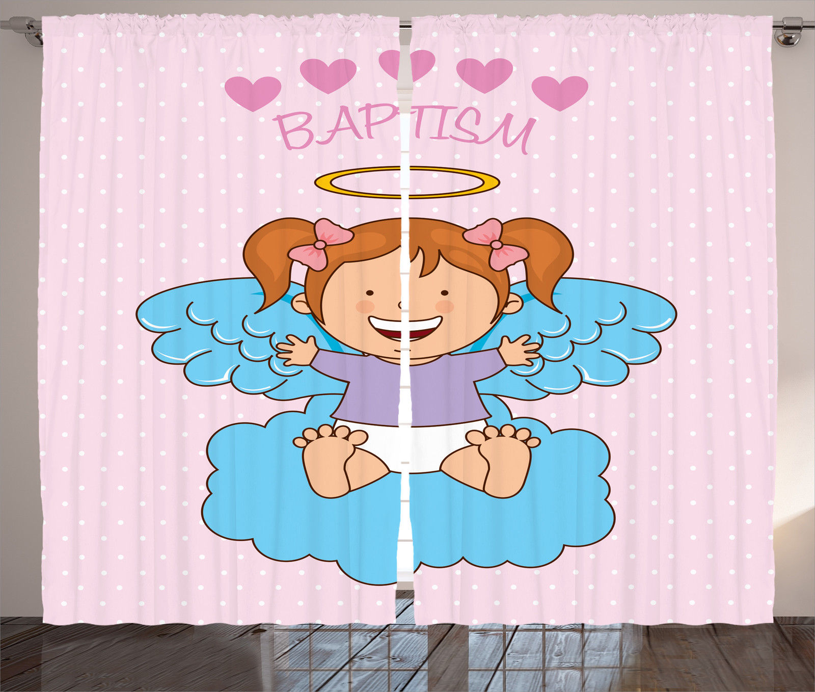 Baptism Theme Design Kids Sacrament Symbol Ornamental Art