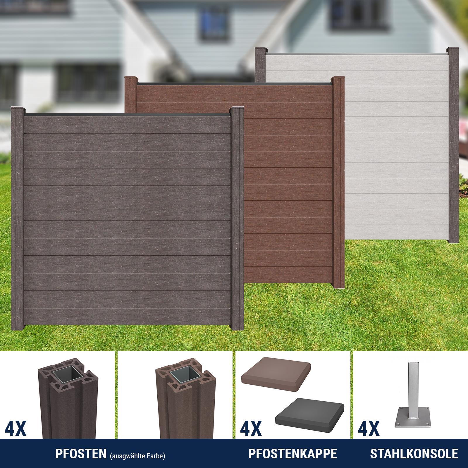 Groja Wpc Zaun Sichtschutz Gartenzaun Windschutzzaun