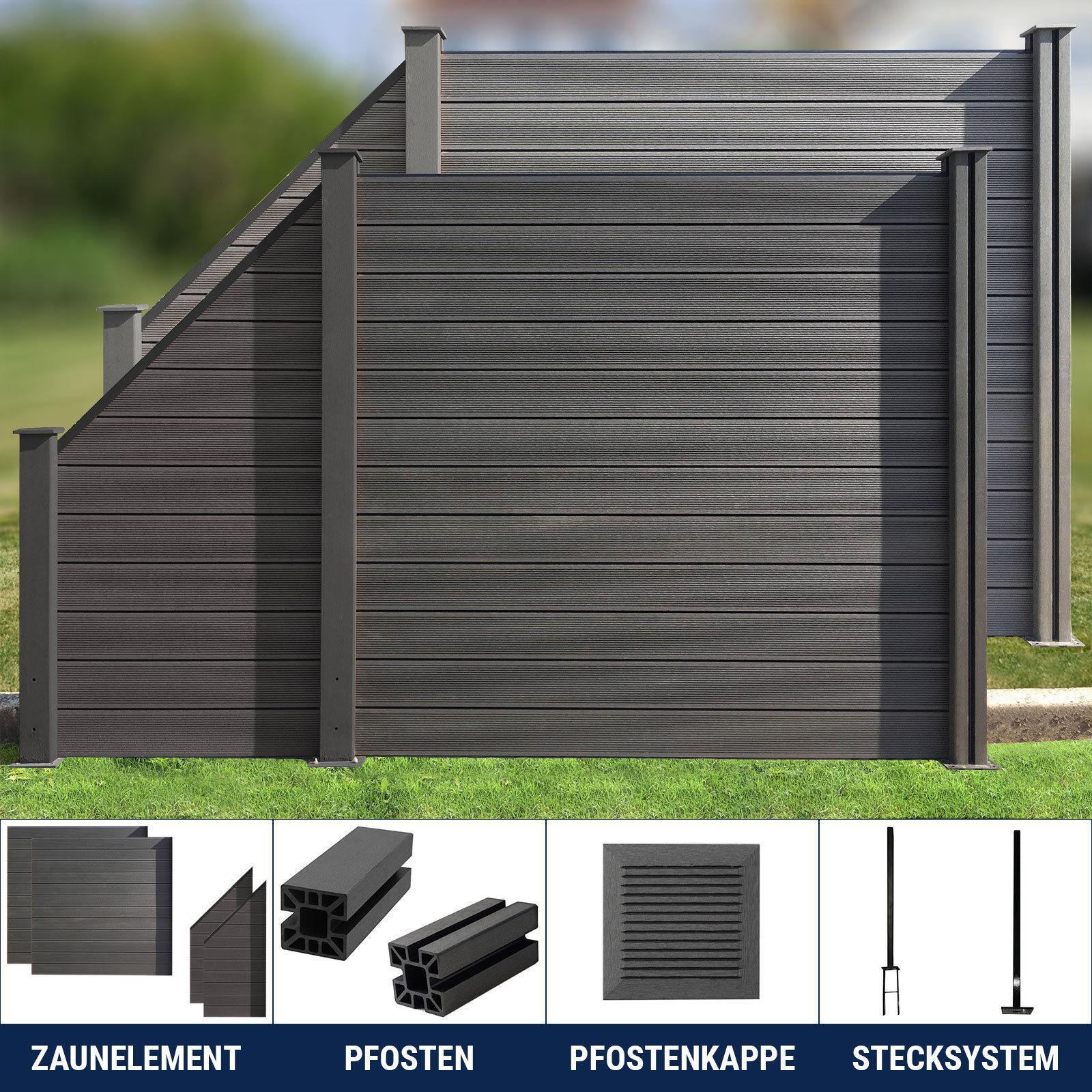 Wpc Zaun Sichtschutzzaun Gartenzaun Windschutz Terrasse