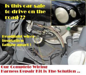 9600 Mercedes Benz E320 Headlight Wire Wiring Harness