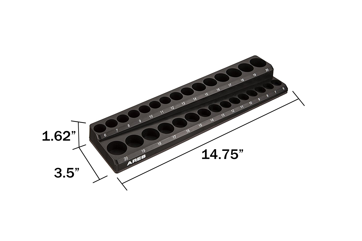 30pc 3 8 Metric Magnetic Socket Holder