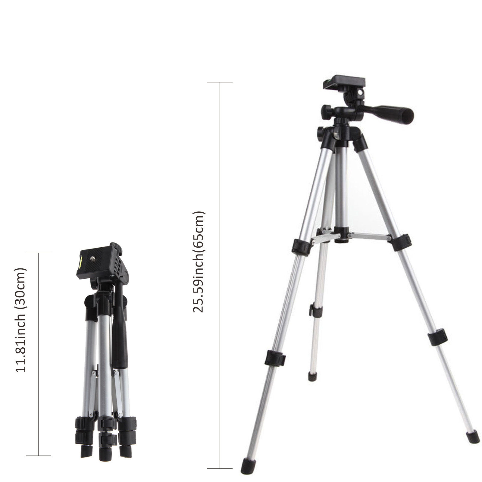 Professional Camera Tripod Stand Mount Phone Holder For