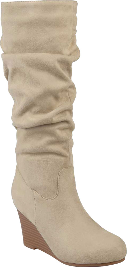 Journee Collection Haze Wedge Knee High Slouch Boot