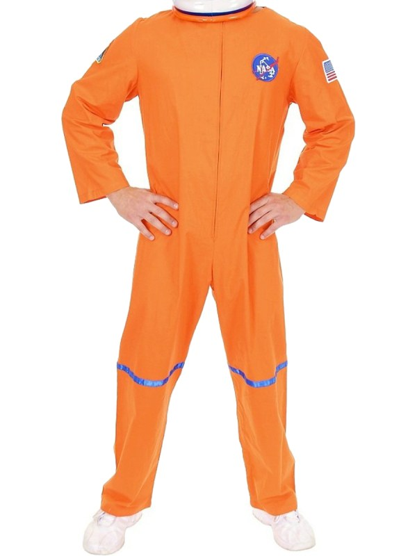 Adult Men's Orange NASA Astronaut Space Suit Costume | eBay