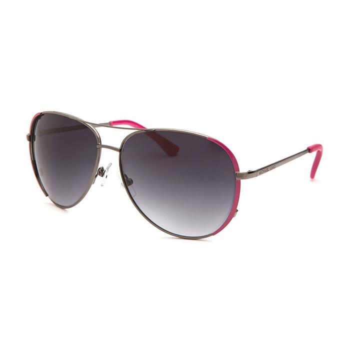 21f634e426 Michael Kors M3001s 664 Women s Gunmetal And Pink Aviator Sunglasses ...