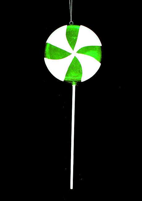 Vickerman Candy Fantasy Green Apple Swirl Lollipop