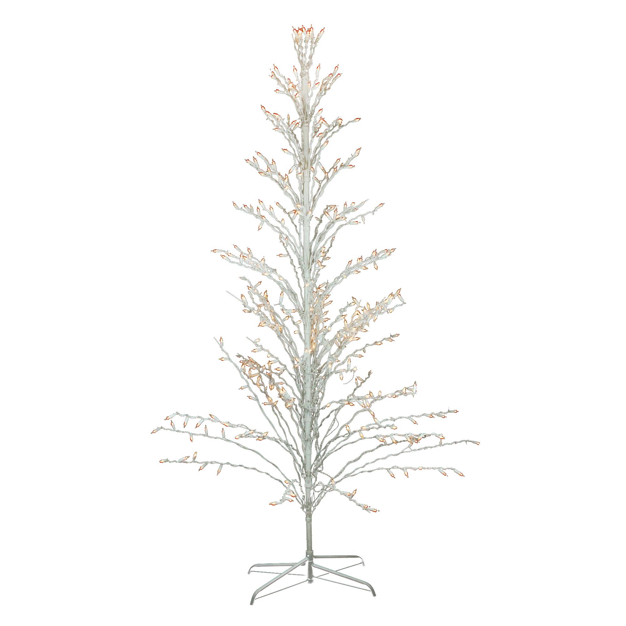 Northlight 6 White Christmas Cascade Twig Tree Outdoor